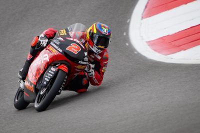 Moto3™: Rodrigo belegt P1 regnerischem Freitag in Portimao