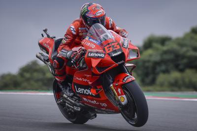 Bagnaia flies to Friday top spot, Marc Marquez claims P6