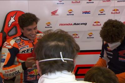 Marc is all smiles after ending the first session of