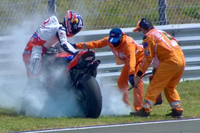 """""""Jack saw and told me the bike was on fire!"""" - Zarco"""