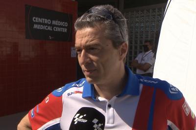 """Martín se pierde el GP, pero Guidotti revela que """"está bien"""""""