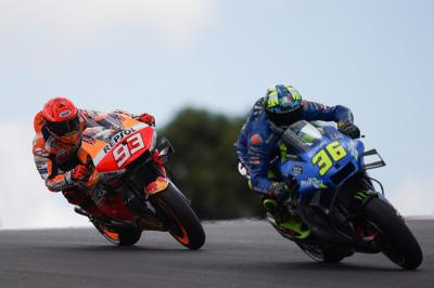 """Marc loves to play these games"" - Mir vs Marquez begins"