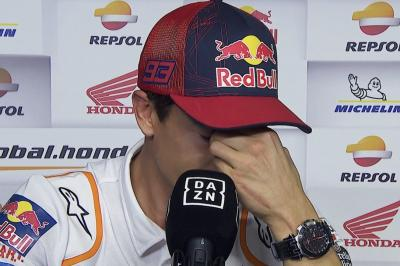 Marquez breaks down in tears as 9 months of pain finally end