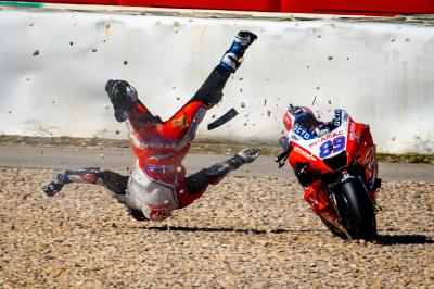Data from Jorge Martin's Portimao horror crash