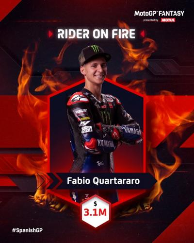 @FabioQ20 is the man of the moment and the rider