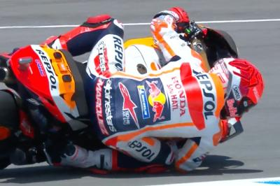Watch Marc Marquez' first miracle save since comeback