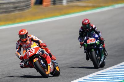 Quartararo se pierde el Test de Jerez, Marc Márquez completa 7 vueltas