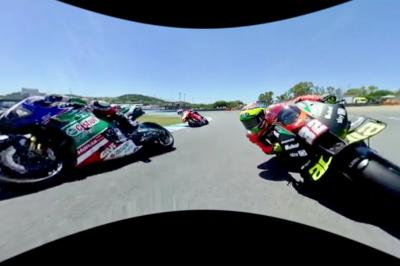 Rossi's Spanish GP start in full 360 degree view