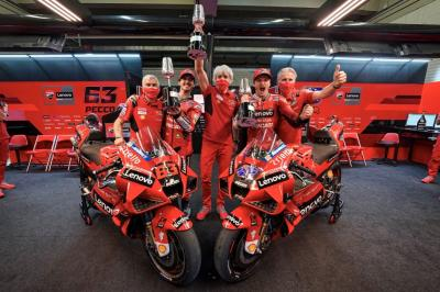 UNSEEN: 'Get the beers ready' - Ducati celebrate Jerez 1-2