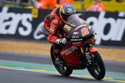Le Mans - FP2 du Moto3™ : Rodrigo réagit sur le sec