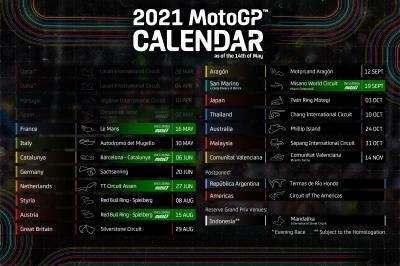 Motogp Calendar 2022.2021 Motogp Provisional Calendar Updated Motogp