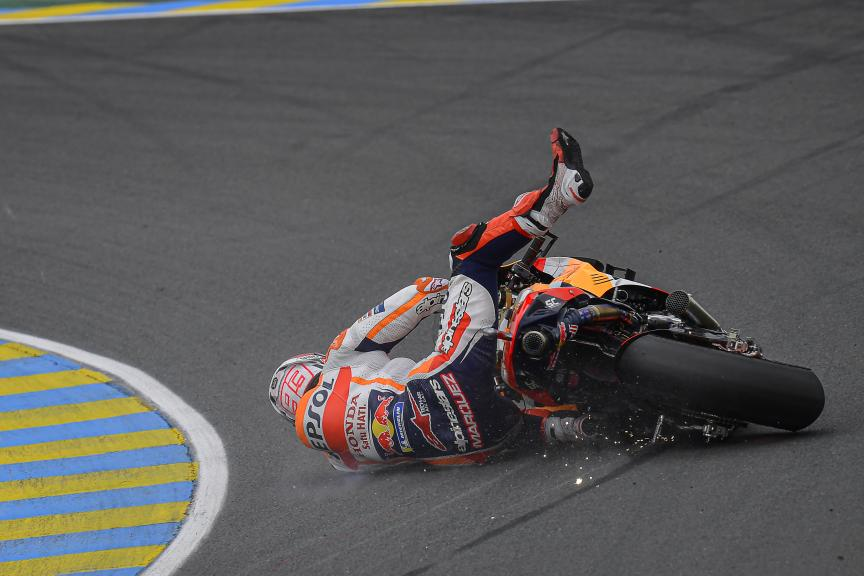 Crask Marc Marquez, FP4, SHARK Grand Prix de France