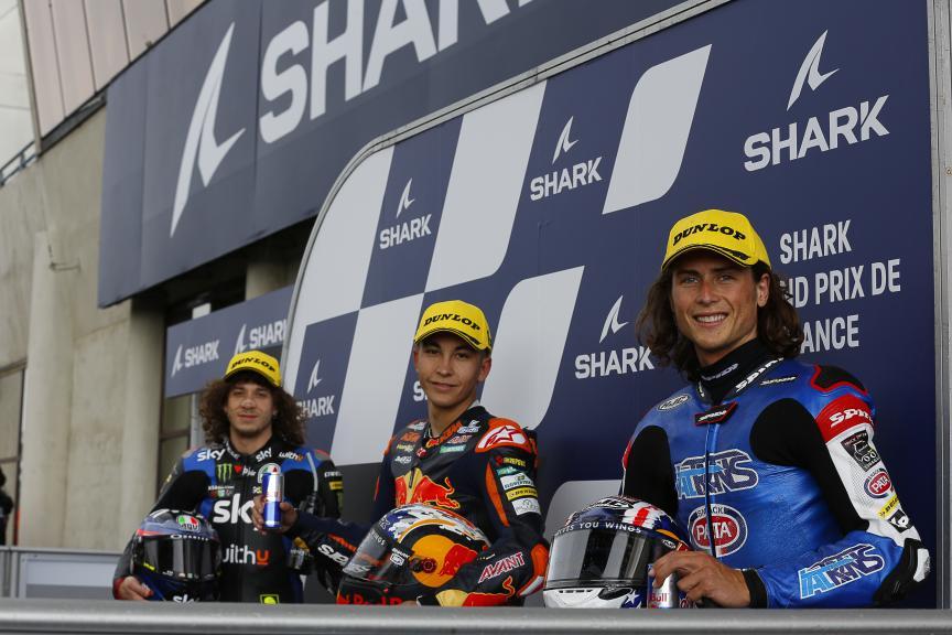 Raul Fernandez, Marco Bezzecchi, Joe Roberts, SHARK Grand Prix de France
