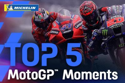 Top 5 MotoGP™ Moments by Michelin | 2021 #FrenchGP