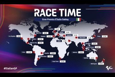 Todos los horarios del Gran Premio Oakley de Italia