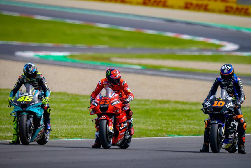 Luca Marini, Francesco Bagnaia, Valentino Rossi, Gran Premio d'Italia Oakley
