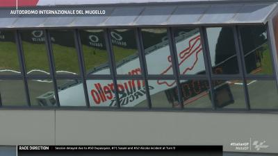 #MotoGP FP4 delayed. We'll follow up with more information as