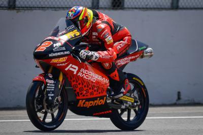 Moto3™ - Mugello : Rodrigo talonné par Öncü au warm-up
