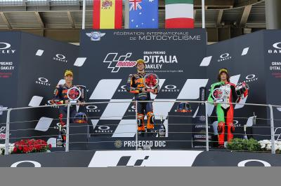 Moto2™ Podiumsstimmen von Gardner, Fernandez und Bezzecchi