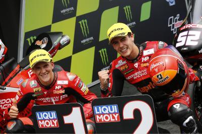 Moto3™ recap: Gresini's gameplan pays off for Rodrigo pole