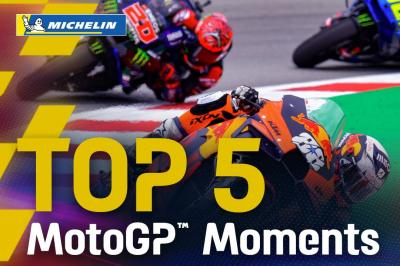 Top 5 MotoGP™ Moments by Michelin   2021 #CatalanGP