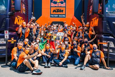 UNSEEN: The Pedrosa effect! KTM celebrate victory in style