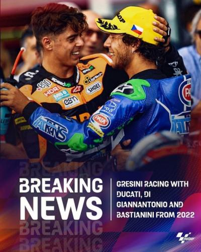 BREAKING Brave new project for @gresiniracing with @eneabastianini and @fabiodiggia21
