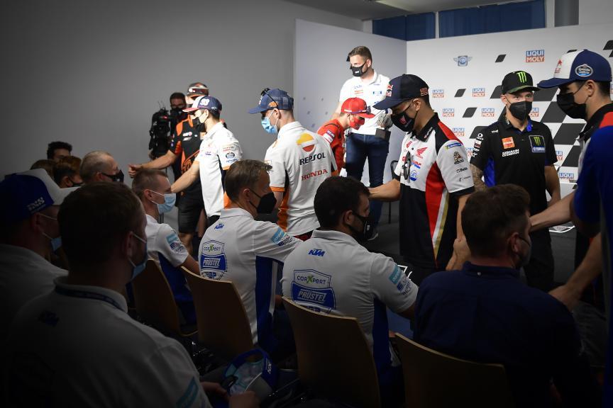 Press-Conference,  Jason Dupasquier Tribute, Liqui Moly Motorrad Grand Prix Deutschland