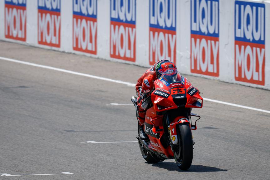 Francesco Bagnaia, Ducati Lenovo Team, Liqui Moly Motorrad Grand Prix Deutschland