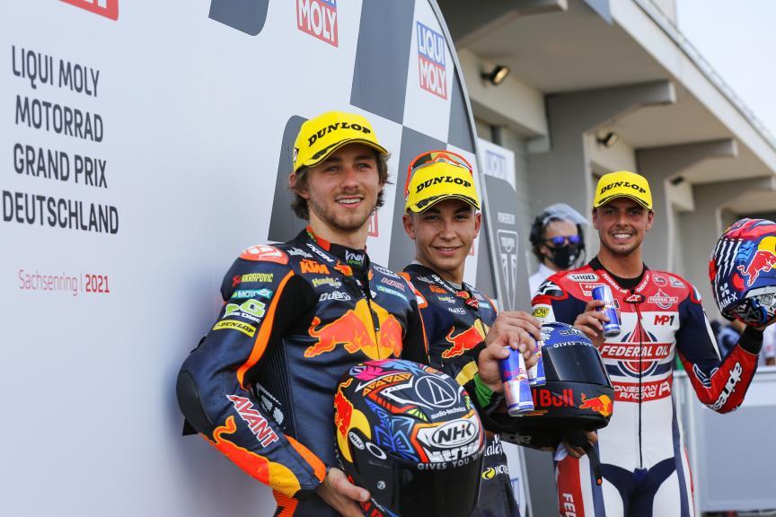 Raul Fernandez, Fabio Di Giannantonio, Remy Gardner, Liqui Moly Motorrad Grand Prix Deutschland