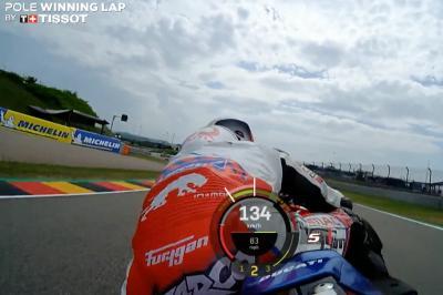 OnBoard: Zarcos Pole-Runde beim Liqui Moly Deutschland GP
