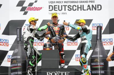 Moto3™: I piloti sul podio commentano la gara tedesca