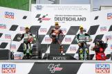 Pedro Acosta, Kaito Toba, Dennis Foggia, Liqui Moly Motorrad Grand Prix Deutschland