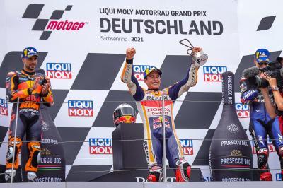 'I saw it rain and said it's mine' - MotoGP™ podium reaction
