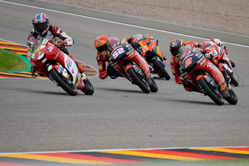 Gabriel Rodrigo, Jeremy Alcoba, Yuki Kunii, Liqui Moly Motorrad Grand Prix Deutschland