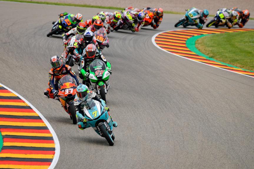 Dennis Foggia, Kaito Toba, Pedro Acosta, Liqui Moly Motorrad Grand Prix Deutschland