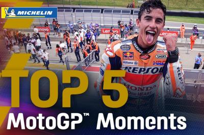 Top 5 MotoGP™ Moments by Michelin | 2021 #GermanGP