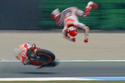 Marquez limps away after one of MotoGP™'s biggest highsides