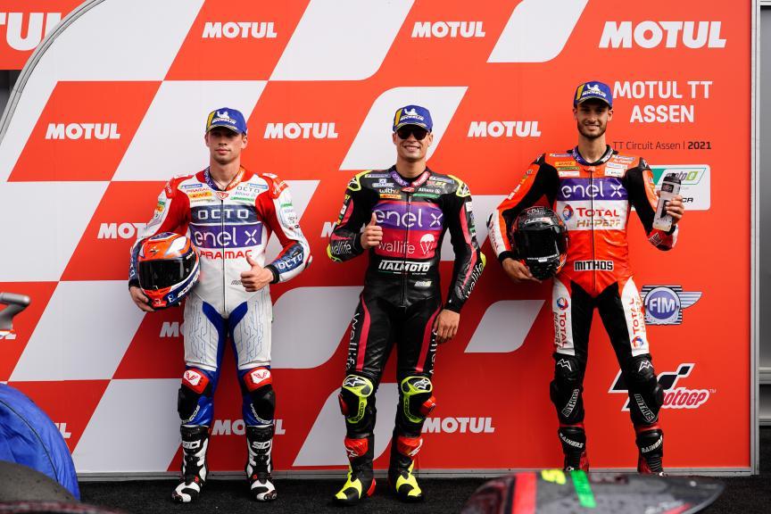Eric Granado, Lukas Tulovic, Alessando Zaccone, Motul TT Assen