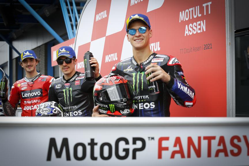 Maverick Viñales, Fabio Quartararo, Francesco Bagnaia, Motul TT Assen
