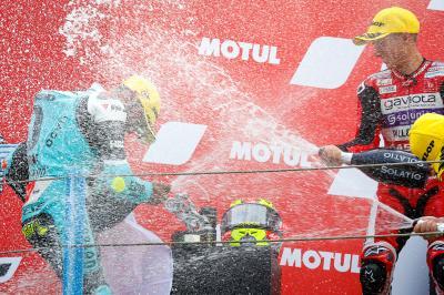 Moto3™: I piloti sul podio commentano il Motul TT Assen