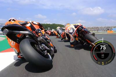 OnBoard: Marquez gains eight places in remarkable first lap
