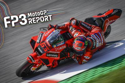 Bagnaia lidera la fábrica Yamahas tras la FP3