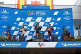 Marco Bezzecchi, Aron Canet, Augusto Fernandez, Michelin® Grand Prix of Styria