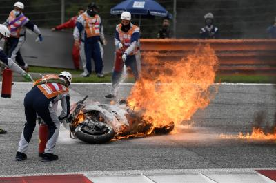 'A scary moment, I was lucky' - Pedrosa on red flag crash