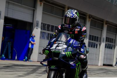 Yamaha suspende a Viñales, ausente en el GP de Austria