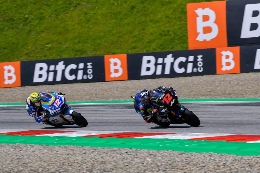 Marco Bezzecchi, Thomas Luthi, Bitci Motorrad Grand Prix von Österreich