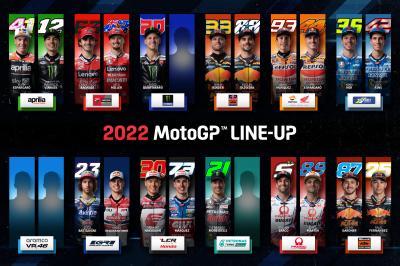 Come sarà lo schieramento della MotoGP™ nel 2022?