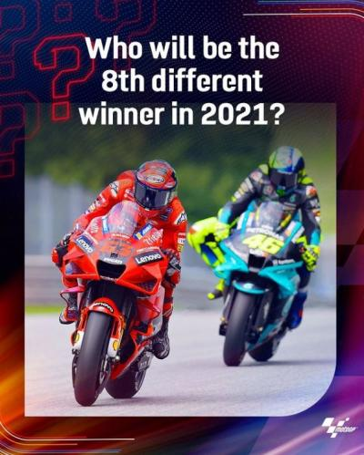 7 different #MotoGP riders have won a race this season