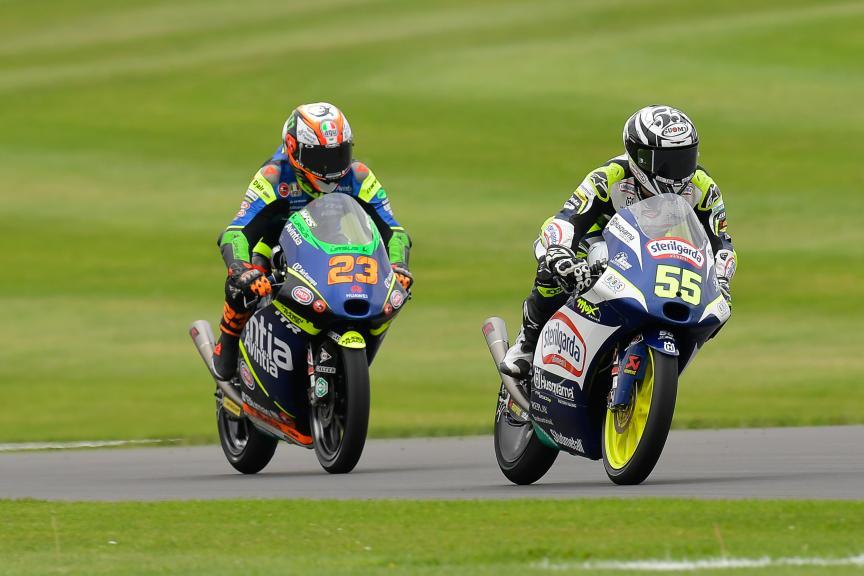 Romano Fenati, Niccolo Antonelli, Monster Energy British Grand Prix